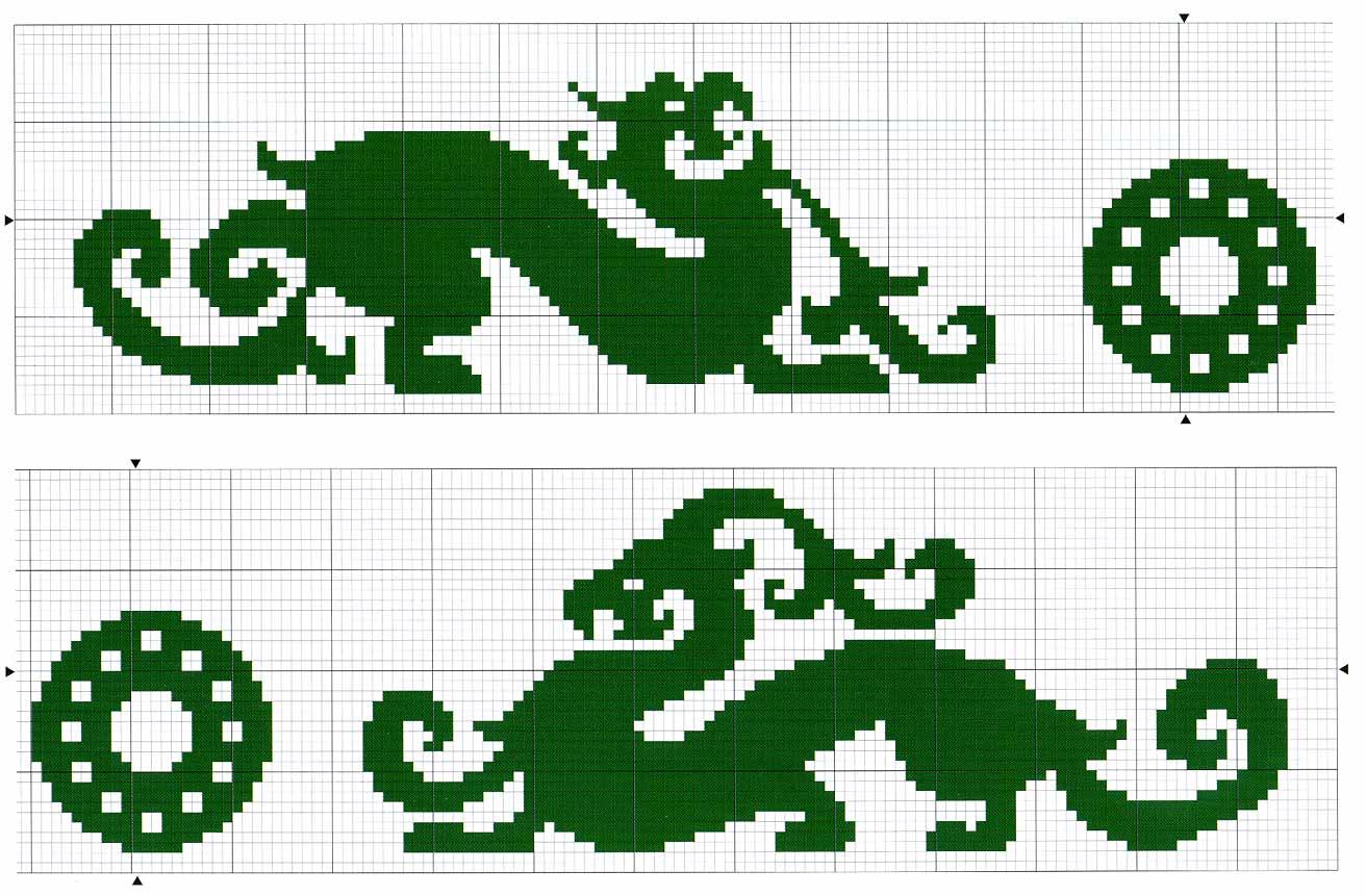 Вышивка дракона крестом схема 77